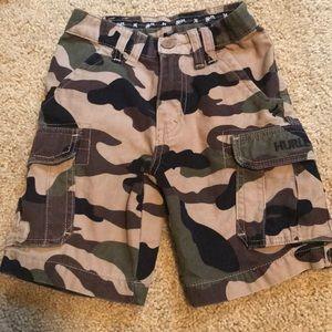 Boys Hurley camp shorts Sz 4